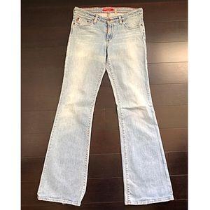 Big star Flary flare light wash jeans size 31L